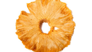 dried pineapples slices  isolated on white background