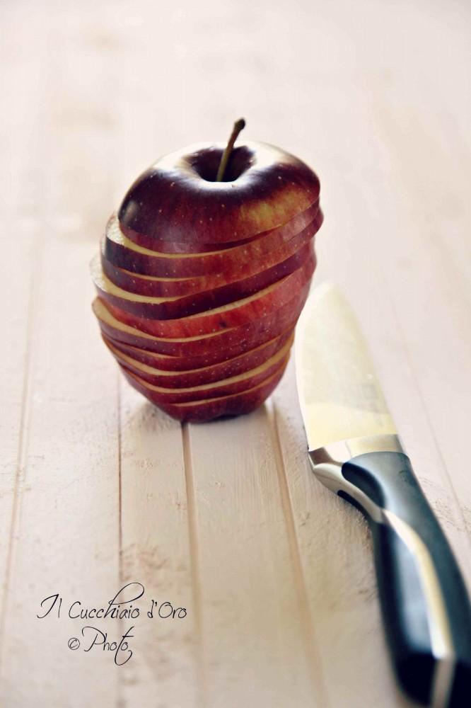 preparazione chips di mele