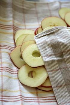 asciugare mele tagliate