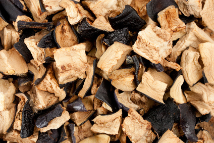 Dried eggplant as a background