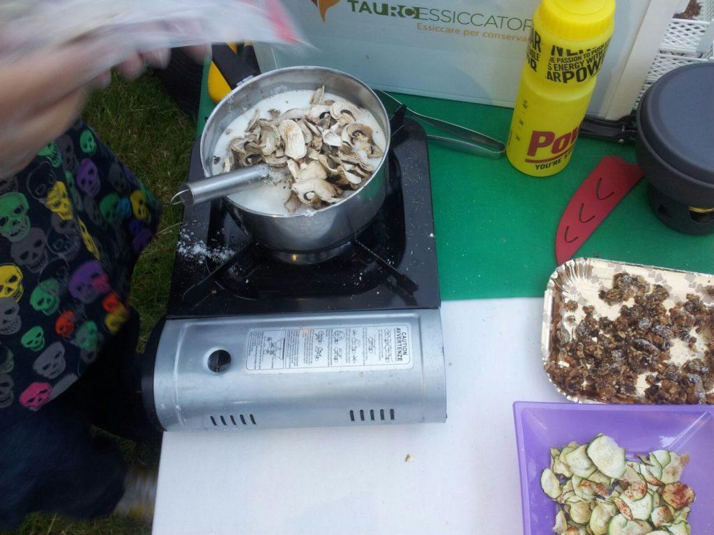 Curry verde thai manzo funghi fagiolini