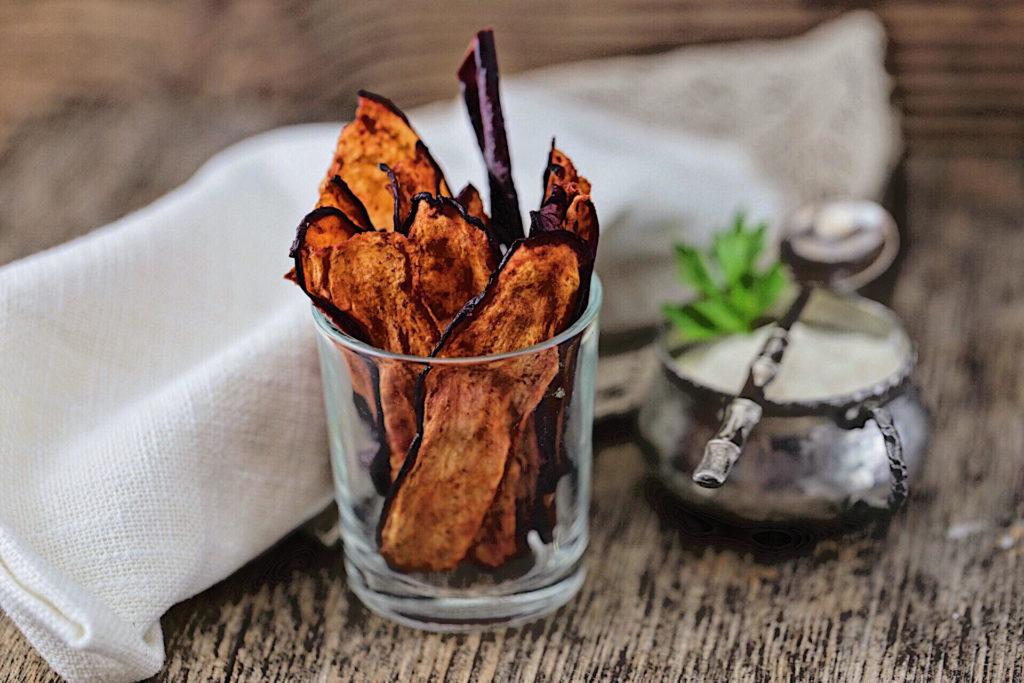 chips essiccate di melanzana
