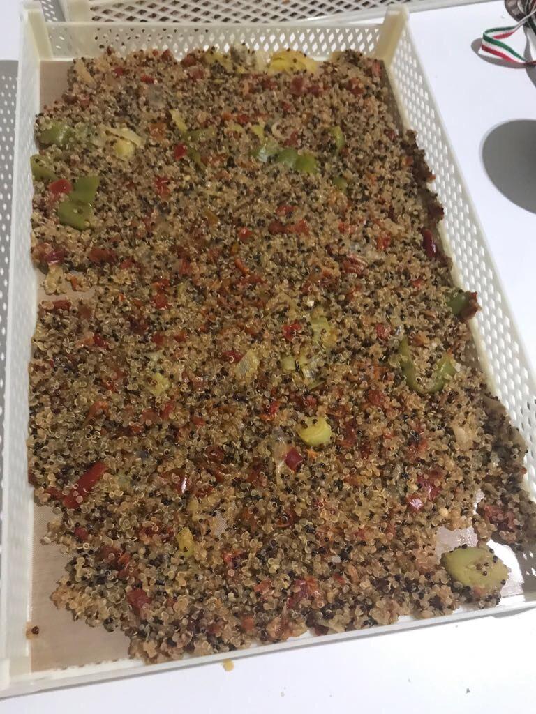 minestra di quinoa essiccata