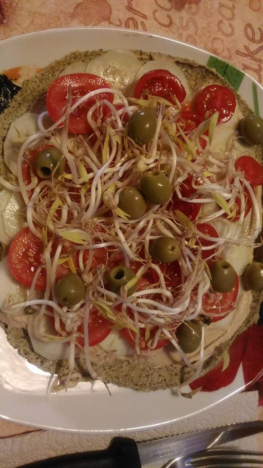 pizza raw essiccata