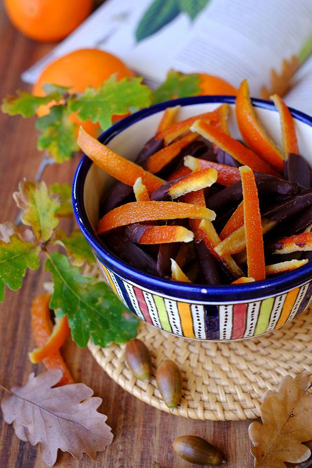 scorze arancia candite ed essiccate