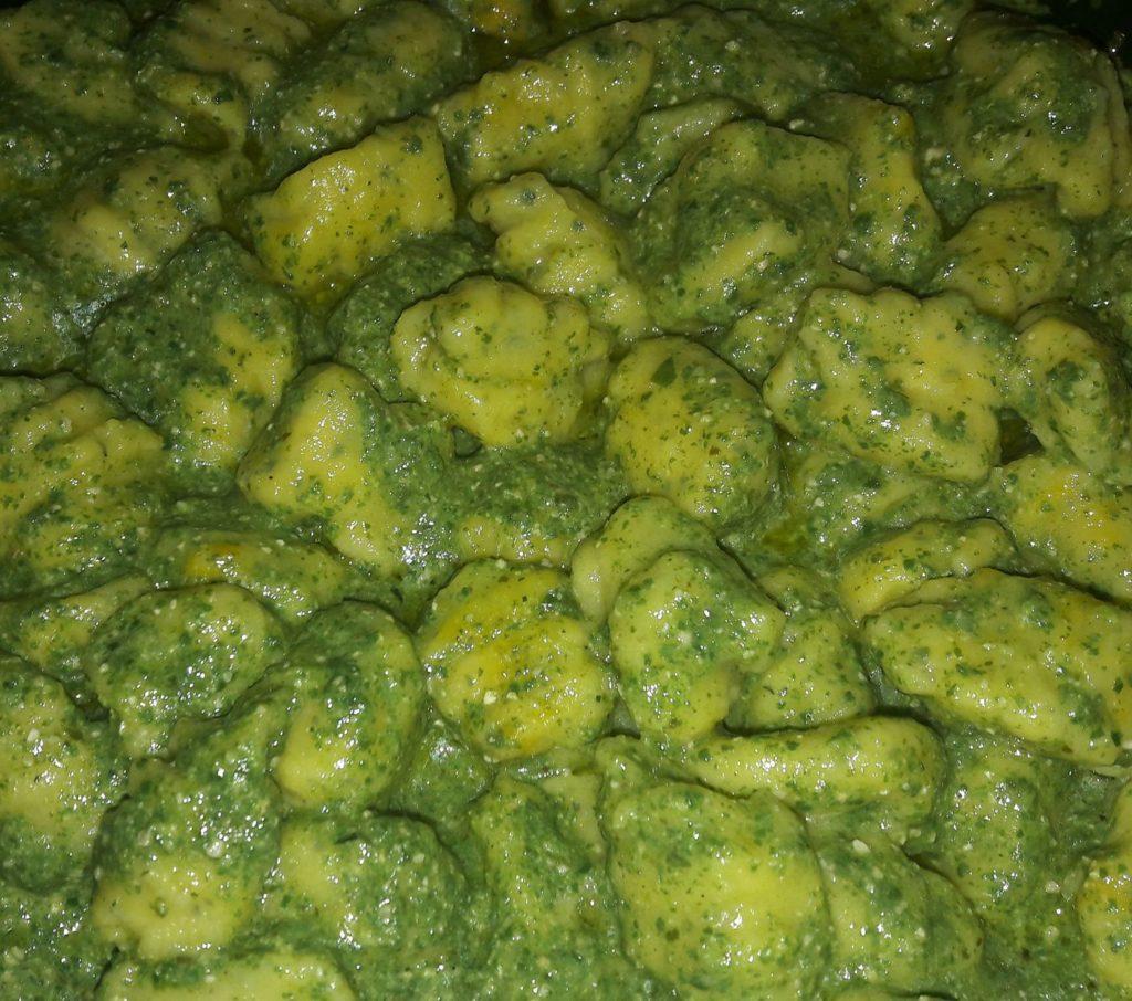 basilico e spinaci essiccati
