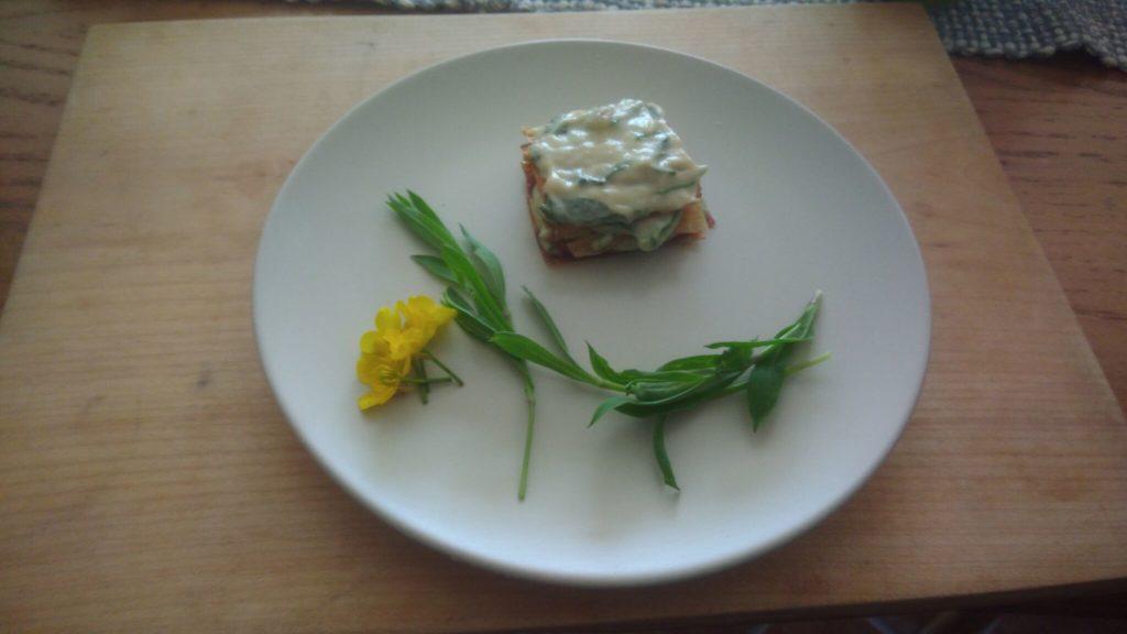 lasagna di asparagi essiccati