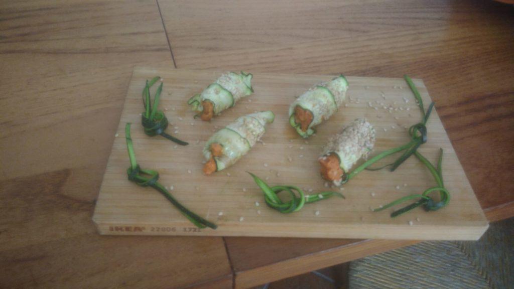 cannoli di zucchine essiccate