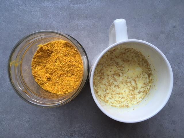 preparato essiccato per golden milk