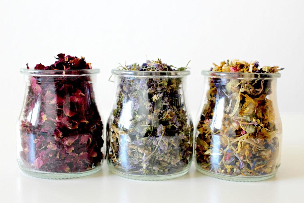siero antietà fiori essiccati