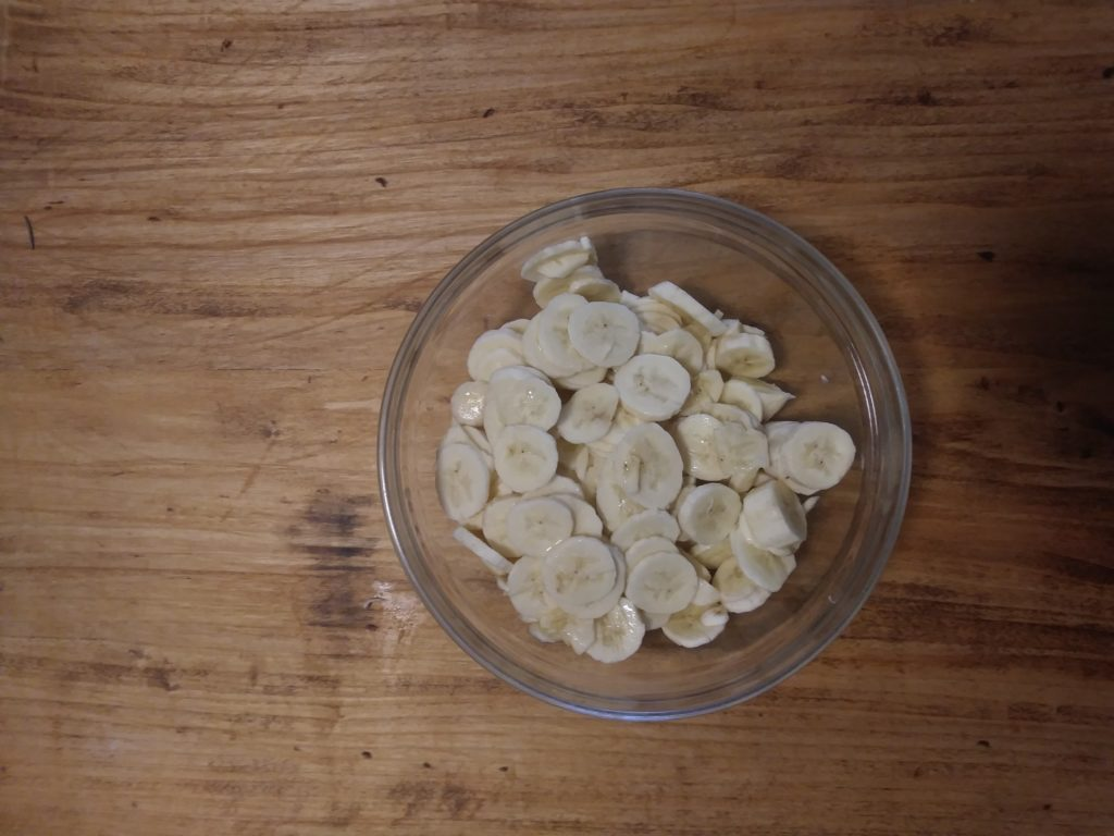 pancake di banane essiccate