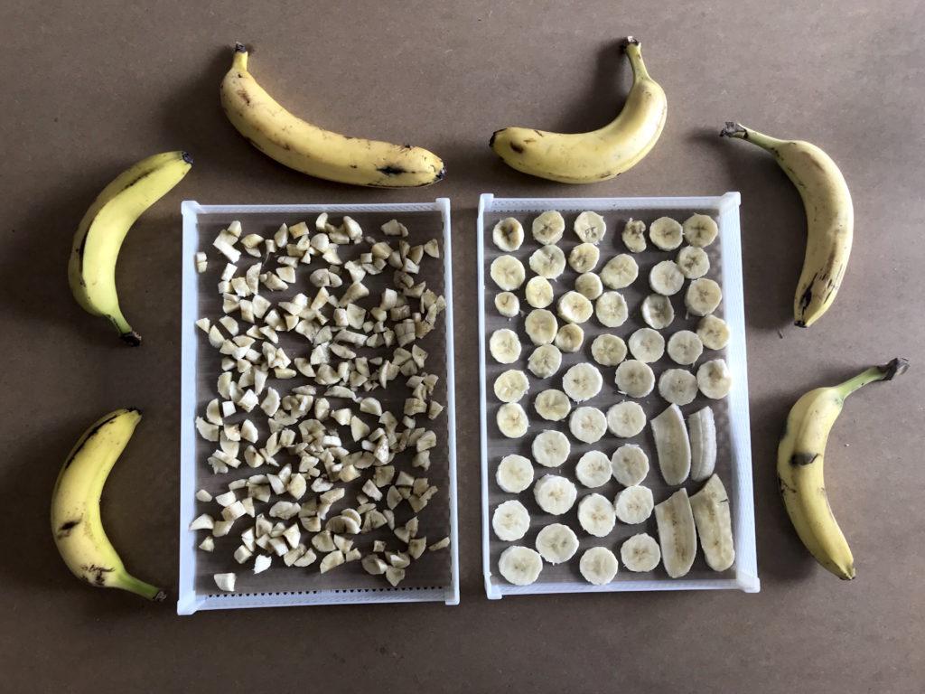 cioccolatini con banane essiccate