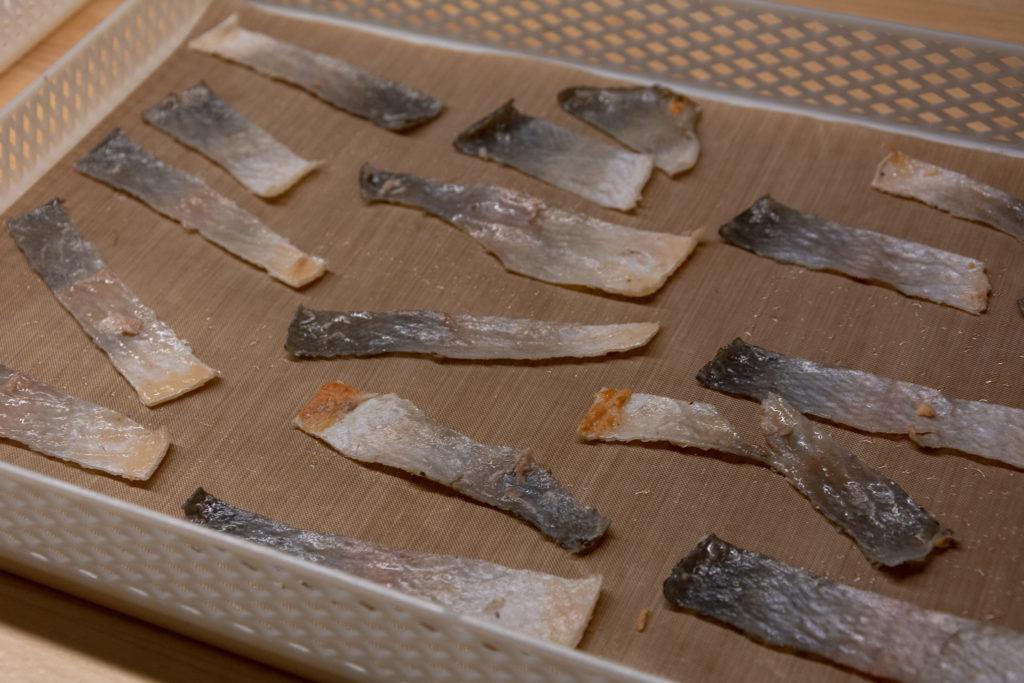 pelle di pesce essiccata